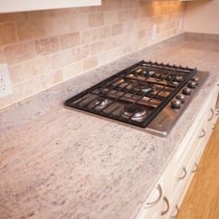 Maple Countertops Kitchen Subway Tile Kashmir Cream With Crescent Edge Granite. Beautiful ...