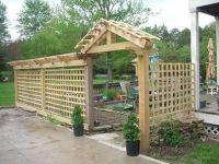 patio trellis enclosure   For the Home   Pinterest ...