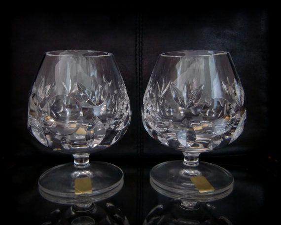 Heavy NACHTMANN BAMBERG Cut Lead Crystal Cognac Glasses