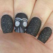 star wars nail art. black nails