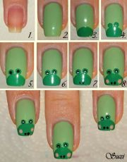 frog nail design - tutorial nails