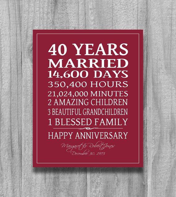 25 Best Ideas about Ruby Wedding Anniversary Gifts on Pinterest  40th wedding anniversary gift