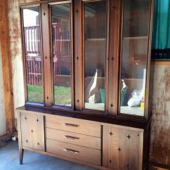 Ebay Kitchen Cabinets Top Appliances Mid Century Modern Broyhill Saga Walnut China Cabinet ...