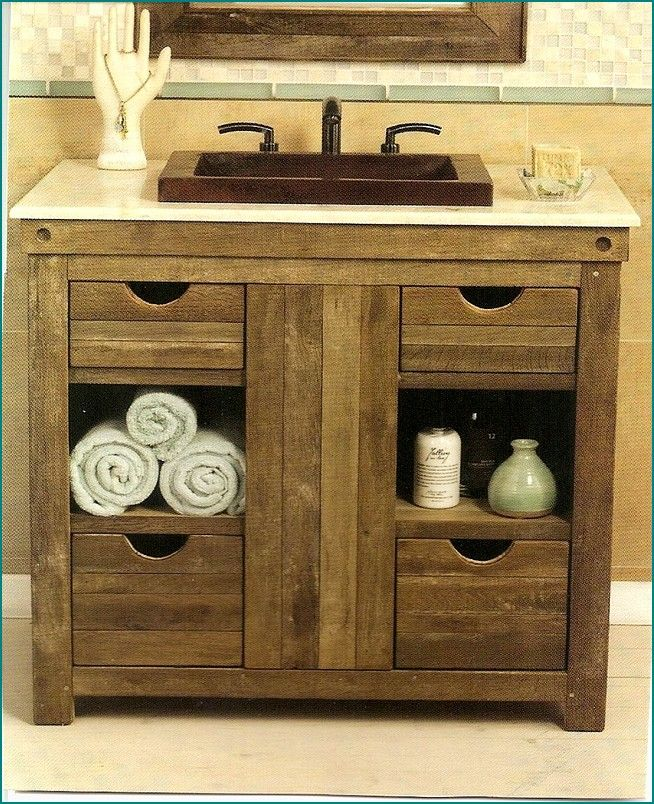1000 ideas about Rustic Bathroom Vanities on Pinterest