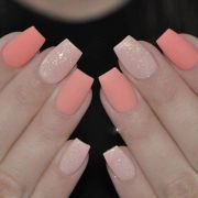 ideas salmon nails