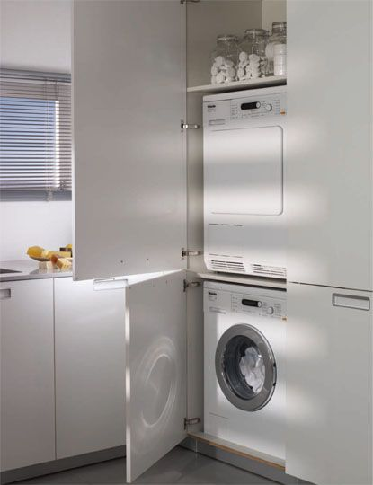 SANTOS kitchen  Solutions for the laundry Tall unit