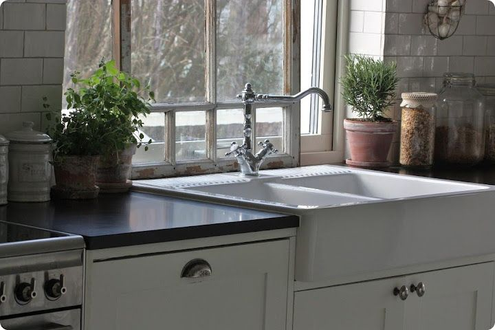 kitchen farm sink white curtains double farmhouse sink. like how the lip of comes ...