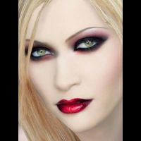 """Blonde Vampire"" created using TAAZ Virtual Makeover. Try ..."