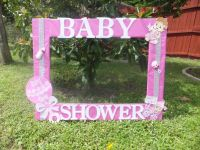 Baby shower for girl photo frame cuadro tematico made by ...