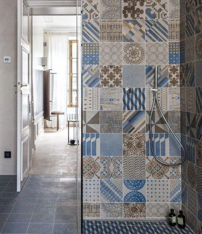 Cementine by Mutina Azulej bellissime mattonelle vintage ideali per la zona doccia  Tile and
