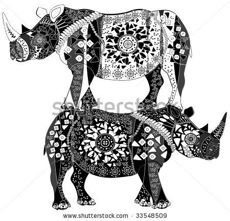 93 best Rhino Art, Crafts, and Collectibles images on