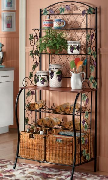 17 Best ideas about Bakers Rack Decorating on Pinterest