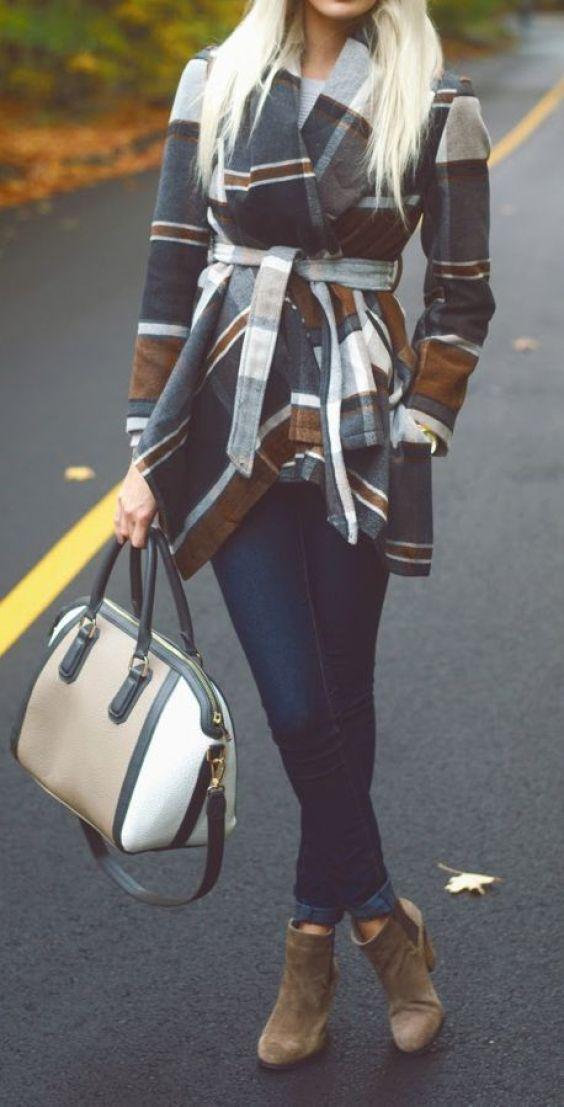 #street #style fall / plaid coat: