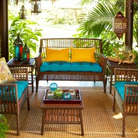Tropical porch outdoor furniture | Outdoor Rooms ...