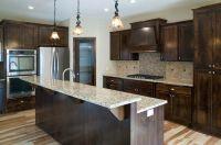 Venetian gold granite, hickory softscraped floors, alder ...