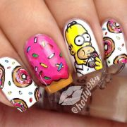 donuts mani with homer simpson
