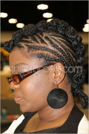 cornrows braids mohawk design