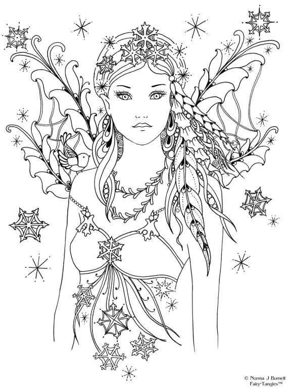 436 best Adult Colouring~Fairies~Angels images on Pinterest