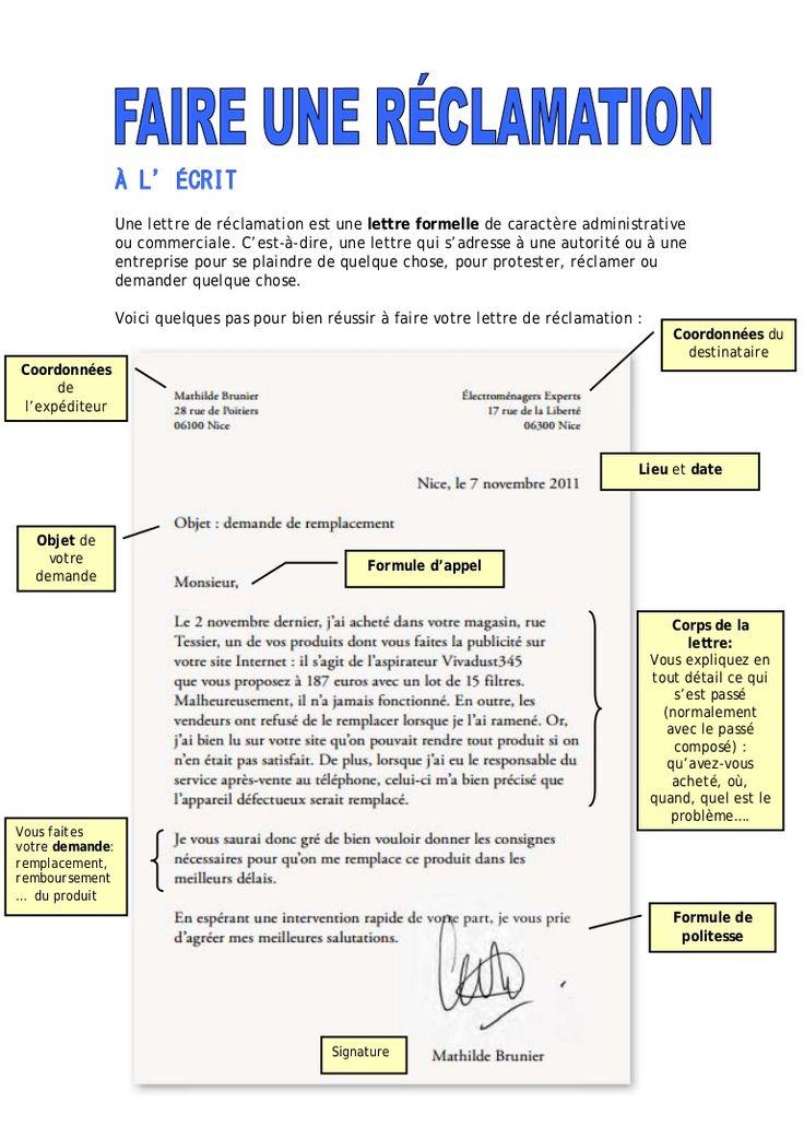 ecrit lettre administrative
