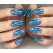 ideas blue glitter