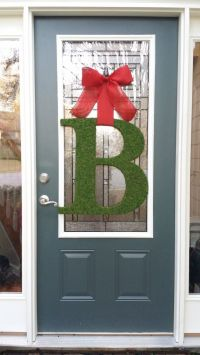 Valentine's Day wreath alternative! Front door moss