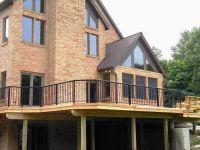 Wood Balcony Railings | Cedar Deck with Aluminum Railings ...