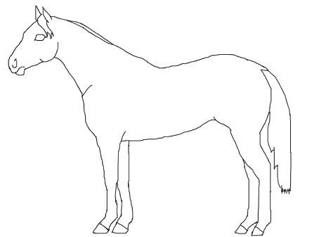 horse...coloring page, or make bigger for pin the tail on