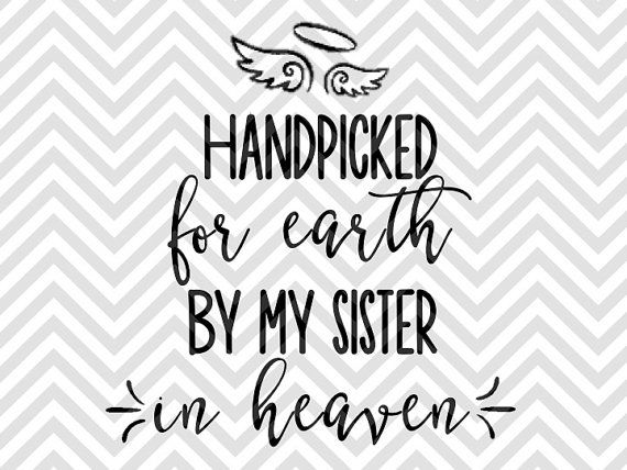Handpicked for Earth by my Sister in Heaven angel baby