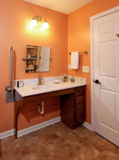 WC accessible bathroom by Bauscher Construction of Cincinnati OH trifecta  sink toilet