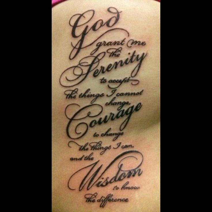 Serenity Prayer Love The Font  Tattoos Pinterest