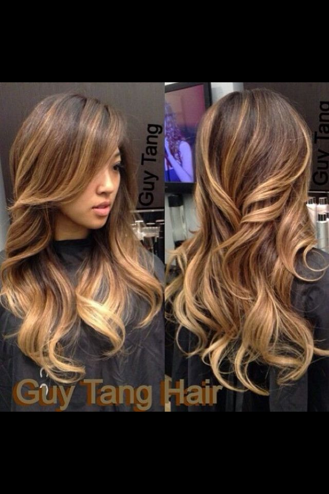 Chunky Ombre Highlights Beauty Pinterest Ombre