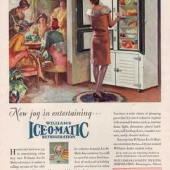 Vintage Posters For Kitchen Discount Cabinets Williams Ice-o-matic Refrigerator - 1920 Ad | ...