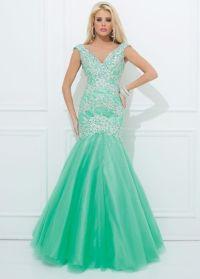Tony Bowls Le Gala 114530 - Mint Green Mermaid Prom Dress ...