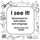 45 best images about SLP Minimal Pairs Freebies on
