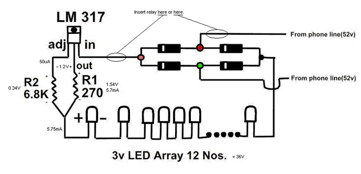 EmergencyLight circuit is a battery-backed lighting