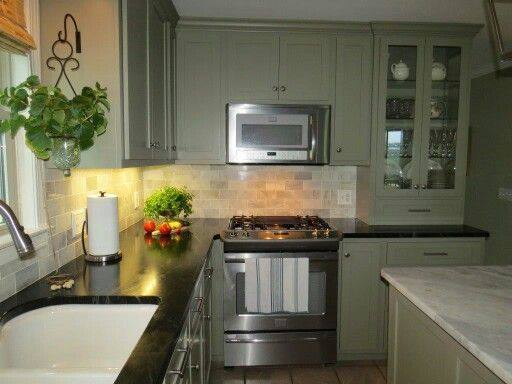 Soapstone Counters Gettysburg And Gray Cabinets On Pinterest