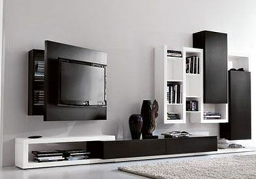 Wall TV Cabinet Designs- Very Cool Behind The Screen