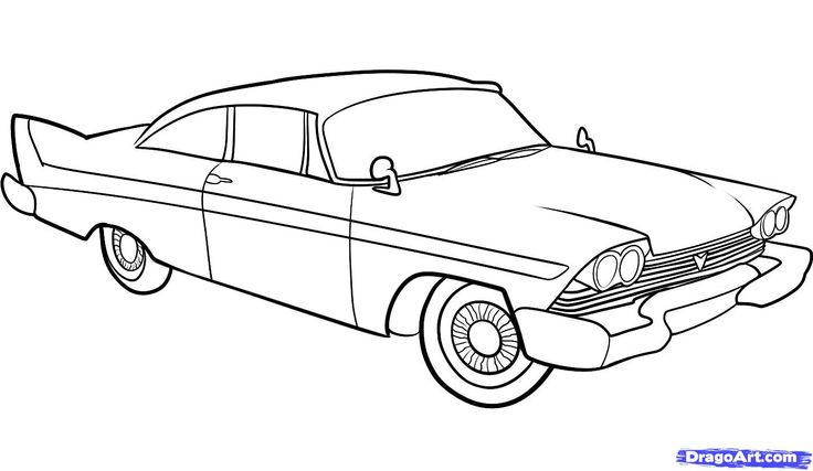 How to Draw an Old Car, Old Car, Step by Step, Cars, Draw