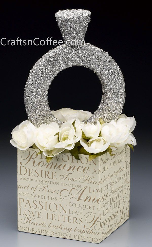 Superbling diamond ring What a fun centerpiece for a bridal shower  Wedding Crafts  DIY