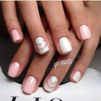 Pink And White Nails Design