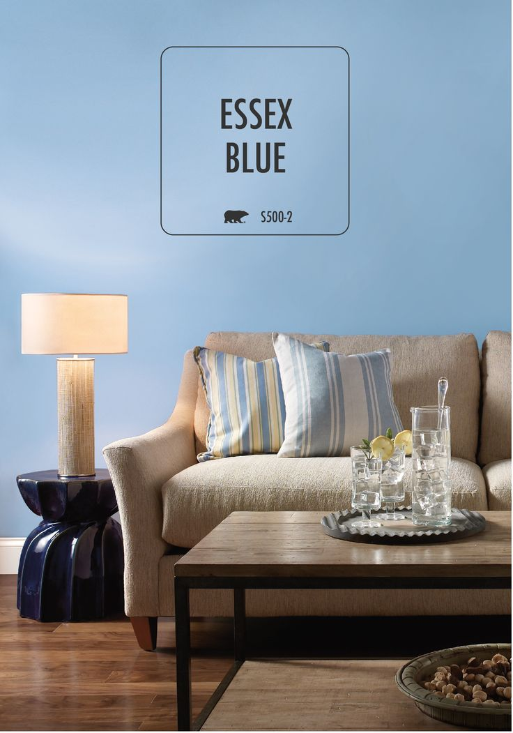 designer mirrors for living rooms room decorating with leather furniture behr paint in essex blue is the perfect beachy tone to ...