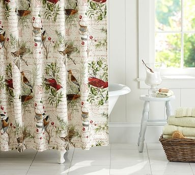 Showers Pottery and Bird shower curtain on Pinterest