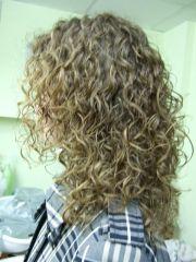 looser spiral perm hair