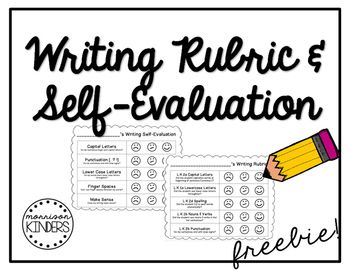 25+ best ideas about Kindergarten writing rubric on Pinterest
