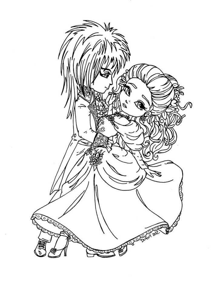 Jareth and Sarah (Labyrinth) were made as a prize for