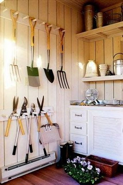 The 25 Best Ideas About Garden Shed Interiors On Pinterest