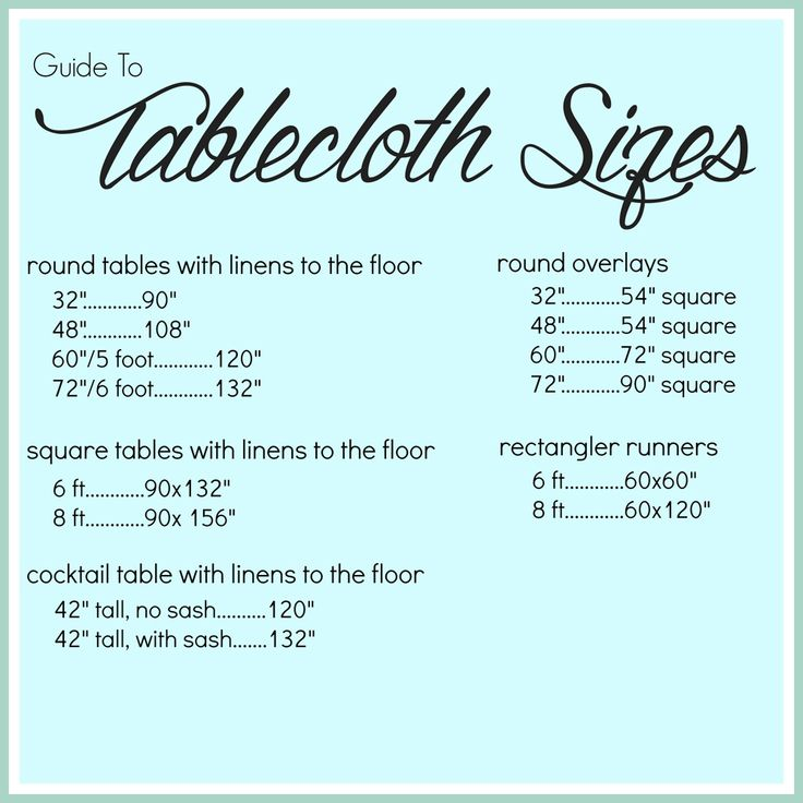 The 25 best Tablecloth sizes ideas on Pinterest  Banquet