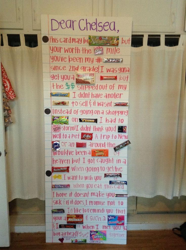 DIY Giant Card With Candies! Birthday Funny True