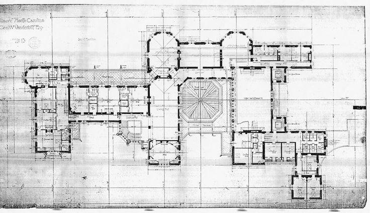 Biltmore House 2nd Floor blue print floorplan including