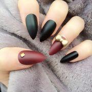 doobys stiletto nails matte black